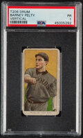 Baseball Cards:Singles (Pre-1930), 1909-11 T206 Drum Barney Pelty (Vertical) PSA Poor 1 - The Only PSA-Graded Example! ...