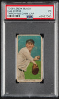 Baseball Cards:Singles (Pre-1930), 1909-11 T206 Lenox - Black Hal Chase (Throwing Dark Cap) PSA Poor 1 - The Only PSA-Graded Example! ...