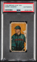Baseball Cards:Singles (Pre-1930), 1909-11 T206 Broad Leaf 350 Harry Gaspar PSA Authentic - Only Four Confirmed PSA-Graded Examples!...