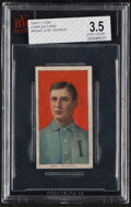 Baseball Cards:Singles (Pre-1930), 1909-11 T206 Broad Leaf 350 Charles Carr BVG VG+ 3.5 - Only Two Graded Examples! ...