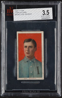 1909-11 T206 Broad Leaf 350 Charles Carr BVG VG+ 3.5 - Only Two Graded Examples!