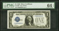 Small Size:Silver Certificates, Fancy Serial Number 66666659 Fr. 1600 $1 1928 Silver Certificate. PMG Choice Uncirculated 64 EPQ.. ...