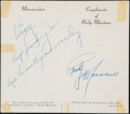 Boxing Collectibles:Autographs, Rocky Marciano Signed Pamphlet. Offered is a Rock...