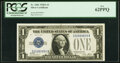 Small Size:Silver Certificates, Fancy Serial Number 05999999 Fr. 1601 $1 1928A Silver Certificate. PCGS New 62PPQ.. ...