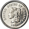 Patterns, 1871 5C Five Cents, Judd-1050, Pollock-1184, Low R.6, PR66 Cameo PCGS. CAC....