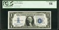 Small Size:Silver Certificates, Fancy Serial Number 34444445 Fr. 1606 $1 1934 Silver Certificate. PCGS Choice About New 58.. ...