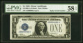 Small Size:Silver Certificates, Radar Serial Number 59000095 Fr. 1600 $1 1928 Silver Certi...