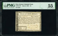 Colonial Notes:New Jersey, New Jersey June 9, 1780 $4 PMG About Uncirculated 55.. ...