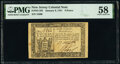 Colonial Notes:New Jersey, New Jersey January 9, 1781 9d PMG Choice About Unc 58.. ...
