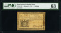 Colonial Notes:New Jersey, New Jersey January 9, 1781 1s PMG Choice Uncirculated 63.. ...