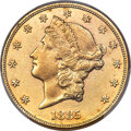 Liberty Double Eagles, 1885 $20 -- Repaired -- PCGS Genuine. AU Details....