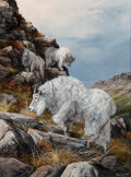 Paintings, Trevor Swanson (American, b. 1968). Mountain Goats. Oil on canvas. 24 x 18 inches (61.0 x 45.7 cm). Signed lower right: ...