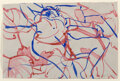 Paintings, David Salle (b. 1952). Untitled, 2001. Ink and watercolor in colors on paper. 8 x 11-3/4 inches (20.3 x 29.8 cm) . Signe...
