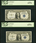 Small Size:Silver Certificates, Fr. 1608 $1 1935A Silver Certificates. L-C and S-C Blocks. PCGS Gem New 66PPQ.. ... (Total: 2 notes)
