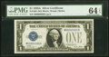 Small Size:Silver Certificates, Fancy Serial Number 80000009 Fr. 1601 $1 1928A Silver Cert...