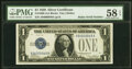 Small Size:Silver Certificates, Radar Serial Number 94000049 Fr. 1600 $1 1928 Silver Certi...