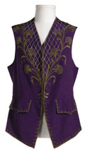 "Movie/TV Memorabilia:Costumes, Bob Hope ""Monsieur Beaucaire"" Costume Vest. A purple vest with rhinestones and gold brocade, worn by Hope in the 1946 comedy..."