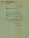 Movie/TV Memorabilia:Autographs and Signed Items, Peter Lorre Signed 1941 Warner Bros. Agreement. This letter onWilliam Morris Agency, Inc. stationary, addressed to the Cash...