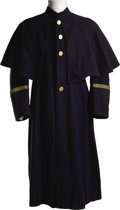 "Movie/TV Memorabilia:Costumes, Cavalry Frock Coat from ""The Horse Soldiers."" A full-length bluewoolen frock coat with brass buttons worn in the 1959 Weste..."