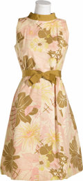 "Movie/TV Memorabilia:Costumes, Elizabeth Montgomery Costume Dress Form ""Bewitched."" A vintageknee-length floral print dress worn by Elizabeth Montgomery i..."