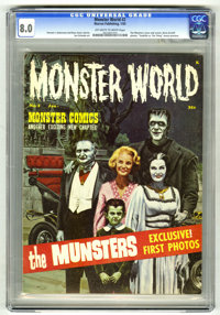 Monster World #2 (Warren, 1965) CGC VF 8.0 Off-white to white pages. King Kong, Lon Chaney, and Vincent Price articles a...