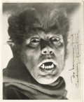 Movie/TV Memorabilia:Autographs and Signed Items, Signed Portrait of Henry Hull as The Werewolf of London. Although Lon Chaney, Jr. became Hollywood's most famous werewolf, i...