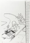 Original Comic Art:Covers, Yosemite Sam Cover Original Art (Whitman, undated)....