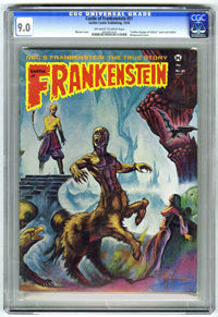 "Castle of Frankenstein #21 (Gothic Castle Printing, 1974) CGC VF/NM 9.0 Off-white to white pages. Marcus cover. ""Go..."
