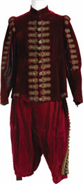 "Movie/TV Memorabilia:Costumes, Alec Guinness ""Cromwell"" Costume. A rather regal heavy tunic with matching trousers worn by Sir Alec Guinness as ""King Charl..."