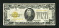 Small Size:Gold Certificates, Fr. 2402 $20 1928 Gold Certificate. Fine.. This is a snappy $20 Gold with just a couple of minute edge blemishes....