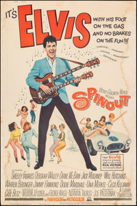 """Spinout (MGM, 1966). Rolled, Fine. Poster (40"""" X 60""""). Elvis Presley"""
