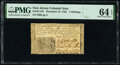 Colonial Notes:New Jersey, New Jersey December 31, 1763 3s PMG Choice Uncirculated 64 EPQ.. ...