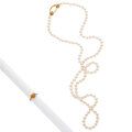 Estate Jewelry:Lots, Diamond, Citrine, Cultured Pearl, Gold Jewelry. ... (Total: 2 Items)