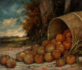 Paintings, Henry Herman Cross (American, 1837-1918). Barrel of Apples, 1916. Oil on canvas . 25 x 30 inches (63.5 x 76.2 cm). Signe...