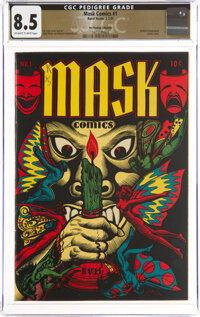 Mask Comics #1 The Promise Collection Pedigree (Rural Home, 1945) CGC VF+ 8.5 Off-white to white pages