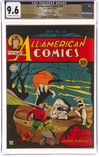 All-American Comics #61 The Promise Collection Pedigree (DC, 1944) CGC NM+ 9.6 Off-white to white pages