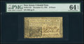 Colonial Notes:New Jersey, New Jersey December 31, 1763 18d PMG Choice Uncirculated 64 EPQ.. ...