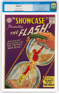 Showcase #14 The Flash (DC, 1958) CGC VF/NM 9.0 Off-white to white pages