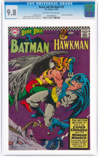 The Brave and the Bold #70 Batman and Hawkman (DC, 1967) CGC NM/MT 9.8 Off-white to white pages