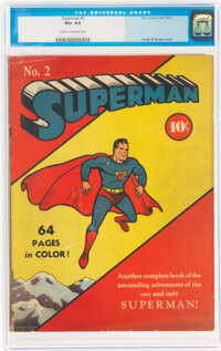 Superman #2 (DC, 1939) CGC VG+ 4.5 Cream to off-white pages