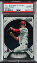 Baseball Cards:Singles (1970-Now), 2011 Bowman Sterling Mike Trout (Rookie) #22 PSA Gem Mint 10....
