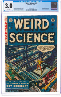 Weird Science #20 (EC, 1953) CGC GD/VG 3.0 White pages