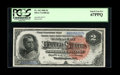 Large Size:Silver Certificates, Fr. 242 $2 1886 Silver Certificate PCGS Superb Gem New 67PPQ....