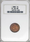 Proof Indian Cents: , 1880 1C PR66 Red and Brown NGC. NGC Census: (25/5). PCGS Population (18/3). Mintage: 3,955. Numismedia Wsl. Price for NGC/P...