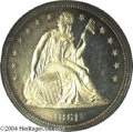 Proof Seated Dollars: , 1861 PR 64 Cameo PCGS. ...