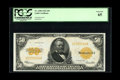Large Size:Gold Certificates, Fr. 1200 $50 1922 Gold Certificate PCGS Gem New 65....