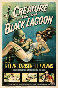"""Creature from the Black Lagoon (Universal International, 1954). Folded, Very Fine-. One Sheet (27"""" X 41"""") Albe..."""