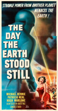 """Movie Posters:Science Fiction, The Day the Earth Stood Still (20th Century Fox, 1951). Very Fine on Linen. Three Sheet (41"""" X 78.5"""").. ..."""