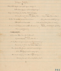 """[Fine Binding by the Monastery Hill Bindery]. Eugene Field. Original holograph manuscript of """"Japanese Lullaby.&quo..."""