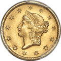 1849-O G$1 Open Wreath MS64+ PCGS. CAC. Variety 1....(PCGS# 7508)